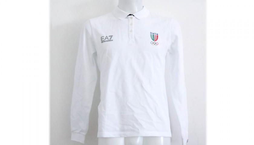 Polo Ufficiale Team Italia - Autografata da Giulia Emmolo