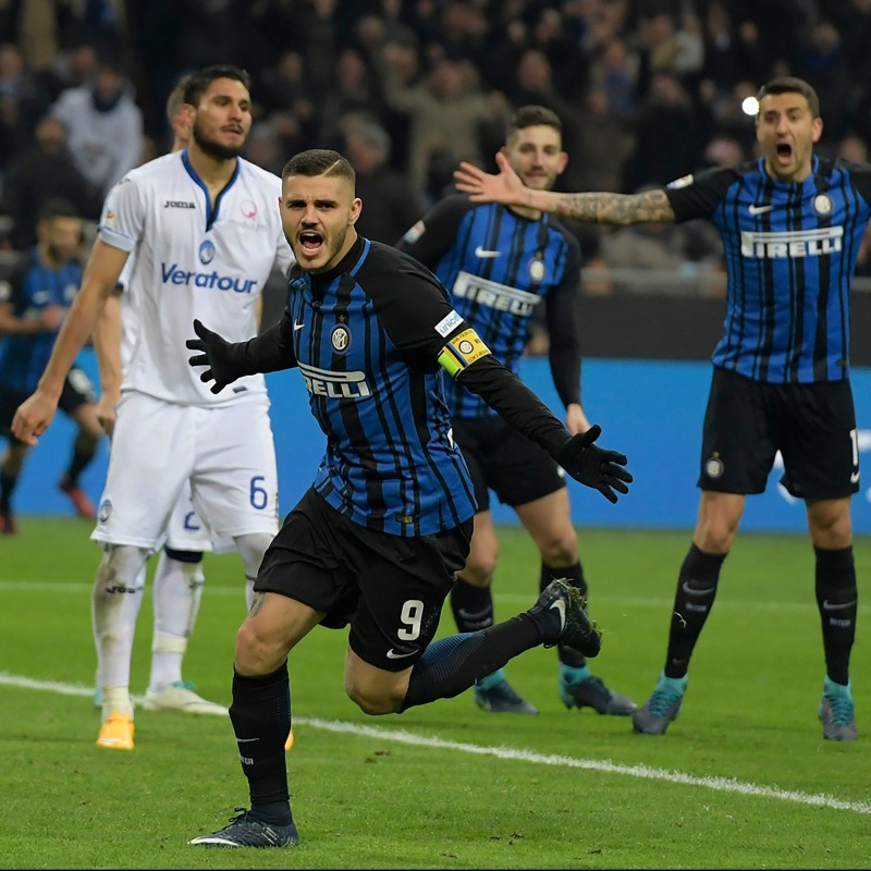 Icardi's Match-Worn Signed Shirt, Inter-Atalanta - UNICEF Patch