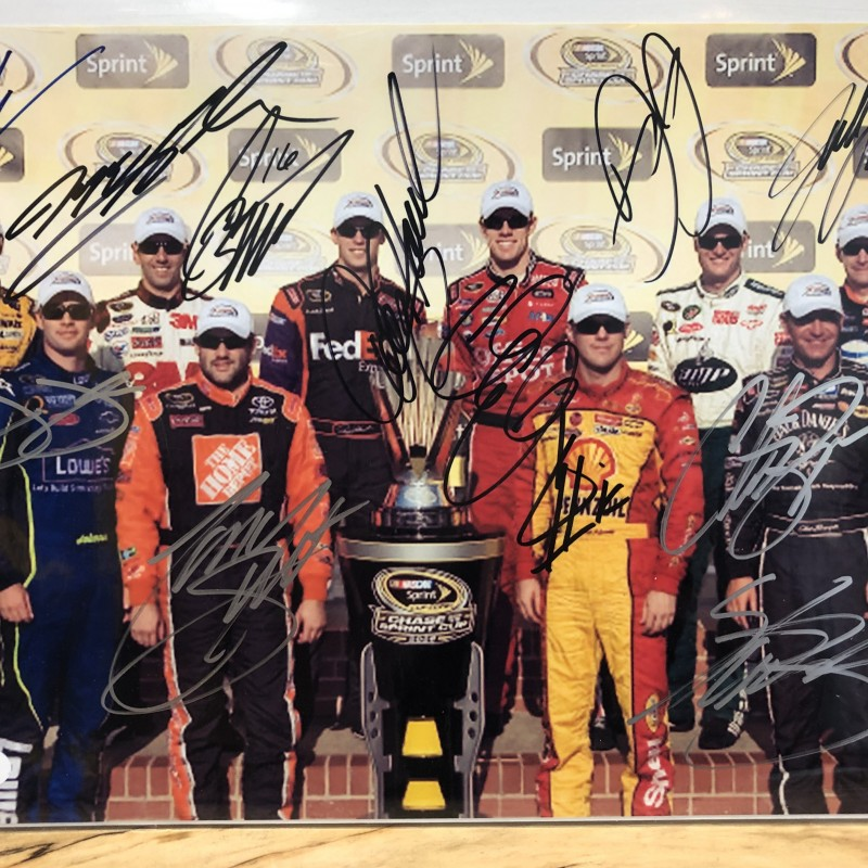 2008 NASCAR Chase for the Cup Finalists Signed Photo