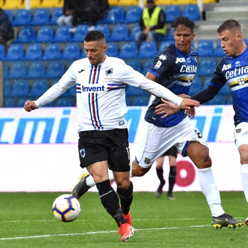 Caprari's Worn Shirt, Parma-Sampdoria - #Blucrociati