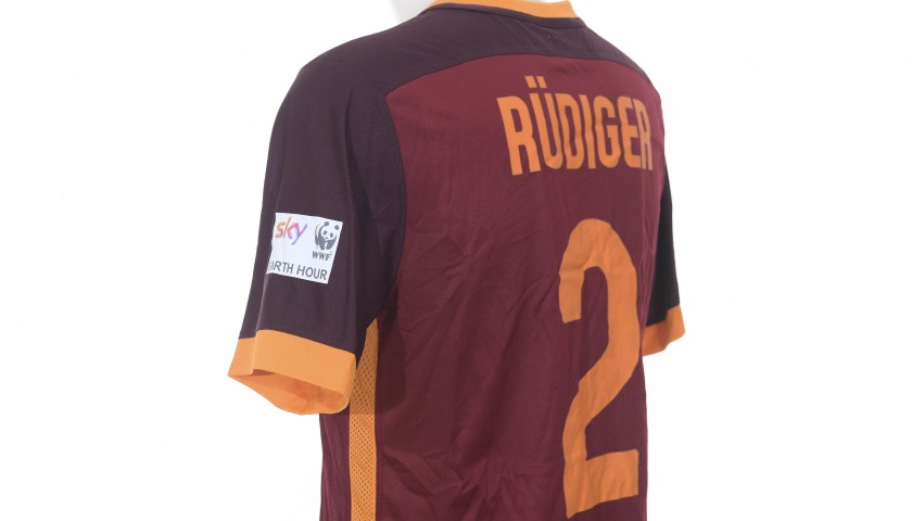 Rudiger's Worn Shirt, Roma-Inter 2016 Special Earth Hour