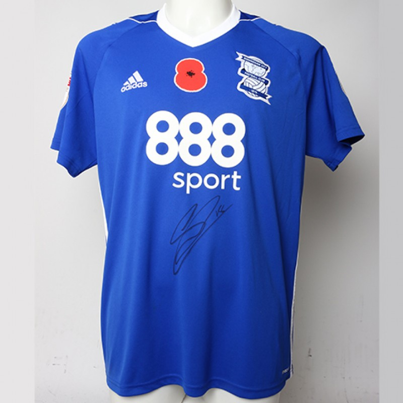 Poppy Shirt Signed by Birmingham City FC's Sam Gallagher