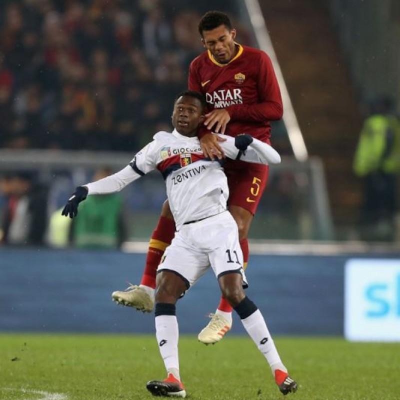 Jesus's Worn and Signed Shirt, Roma-Genoa 2018