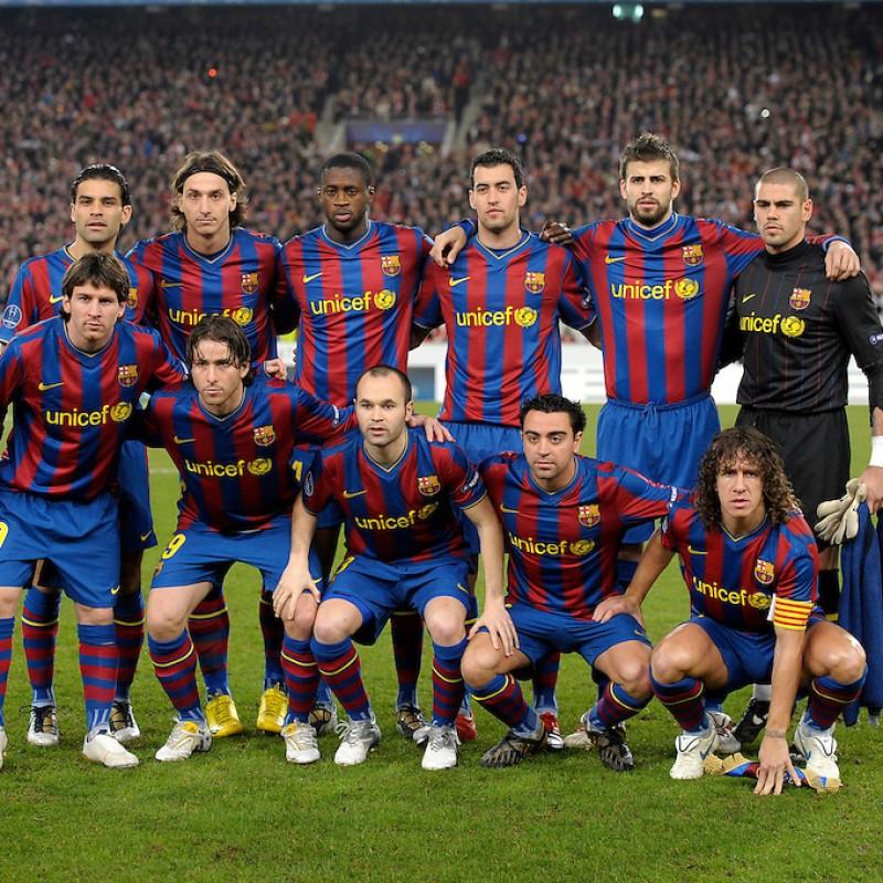 Xavi's Match Shirt, Stuttgart-Barcelona 2010