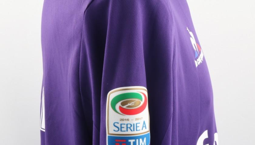 Ilicic Match Worn Shirt, Lazio-Fiorentina 18/12/1Signed 6 -