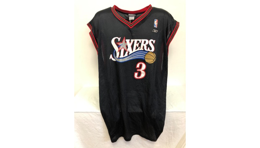 Iverson's Official Philadelphia 76ers Signed Jersey