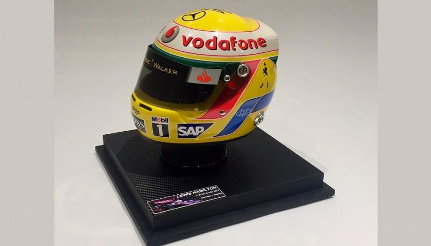 Lewis Hamilton's McLaren Mercedes Replica Signed Helmet