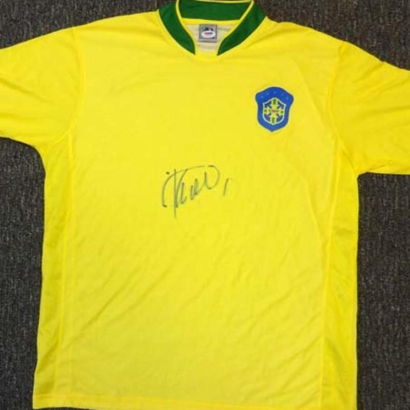 Ricardo Kaka Hand Signed CBF Brazil Jersey