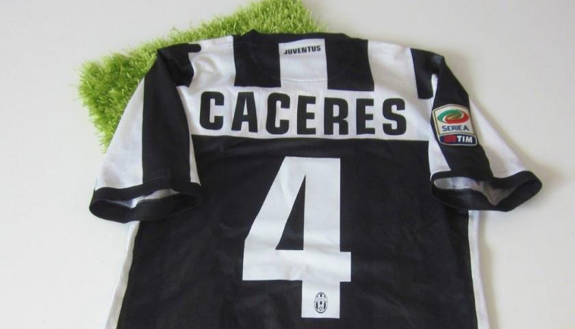 pretty nice 38ebb 2c1da Cáceres Juventus match worn shirt, Serie A 2012/2013 - CharityStars