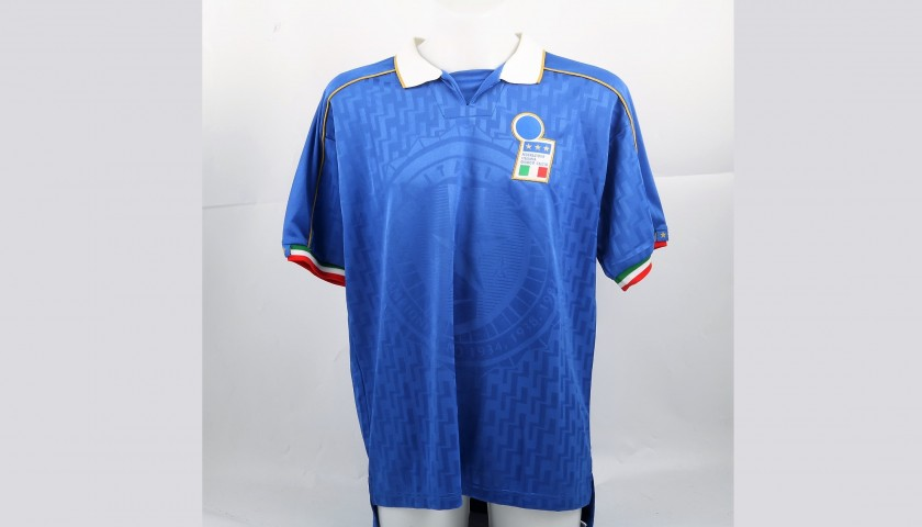 Del Piero's Match-Issued/Worn Shirt, Italy-Slovenia 1995