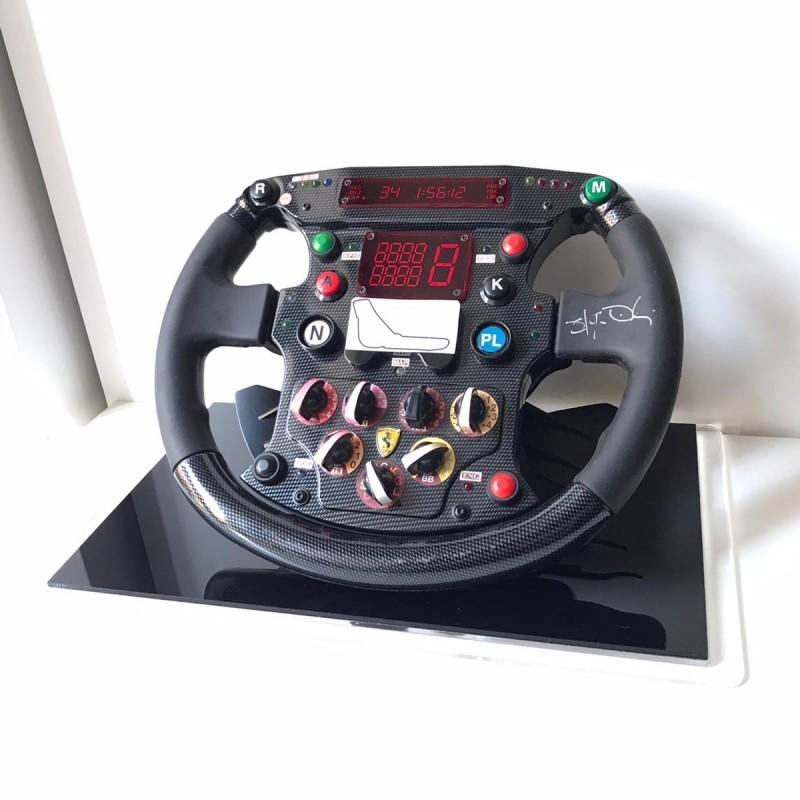 Ferrari F399 Replica Steering Wheel Signed by F1 CEO Stefano Domenicali