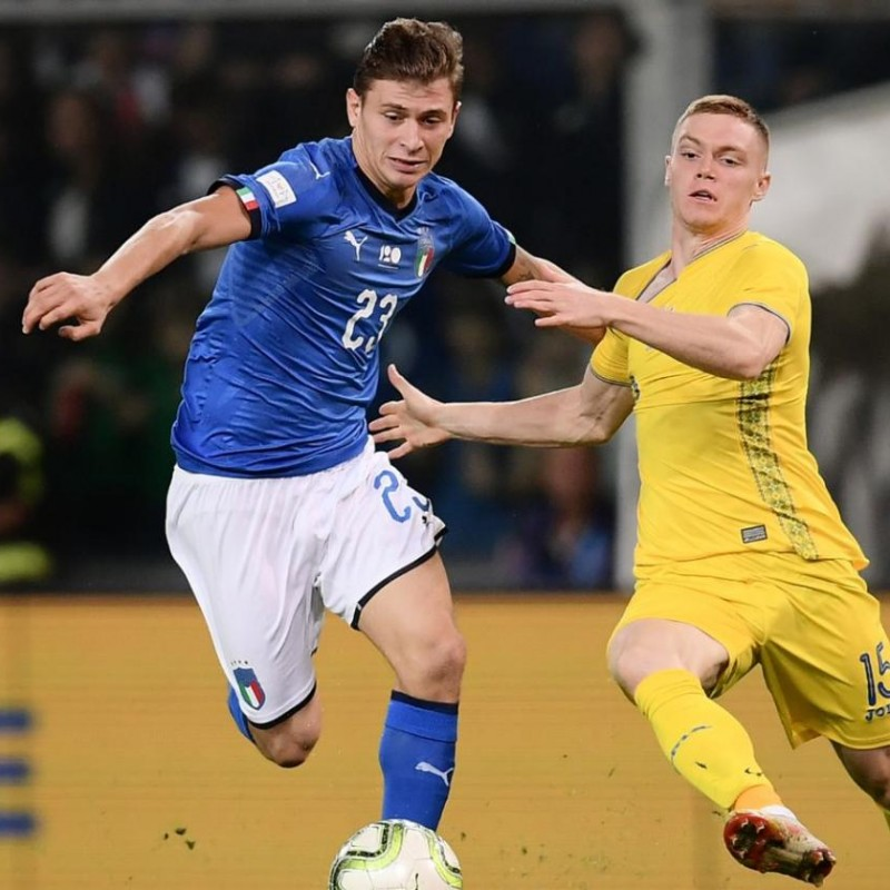 Barella's Match Kit, Italy-Ukraine 2018 + Training Shirt