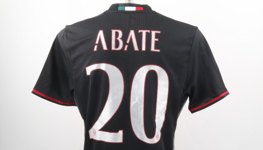 Abate Match Issued Shirt, TIM Supercup Milan-Juventus - Special Sewing