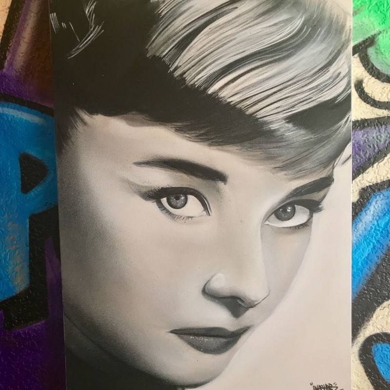 'Audrey' by UK Street Artist Gnasher