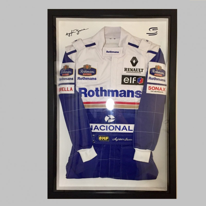 Ayrton Senna 1994 Williams Renault Formula 1 Framed Suit