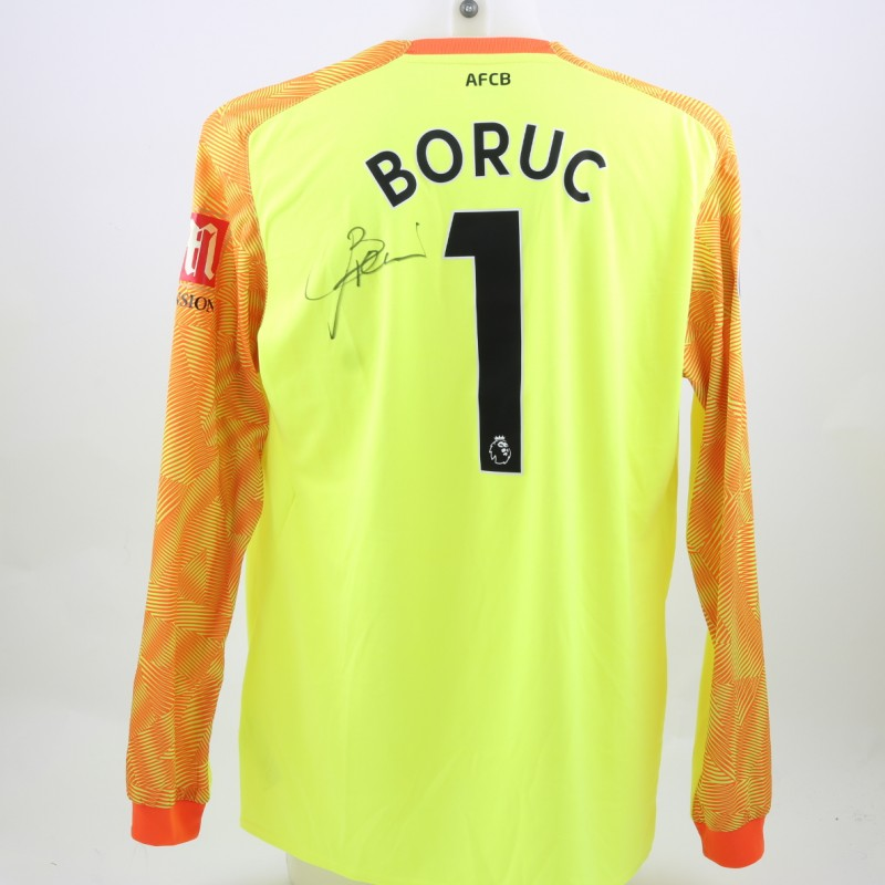 Boruc's AFC Bournemouth Worn and Signed Poppy Shirt
