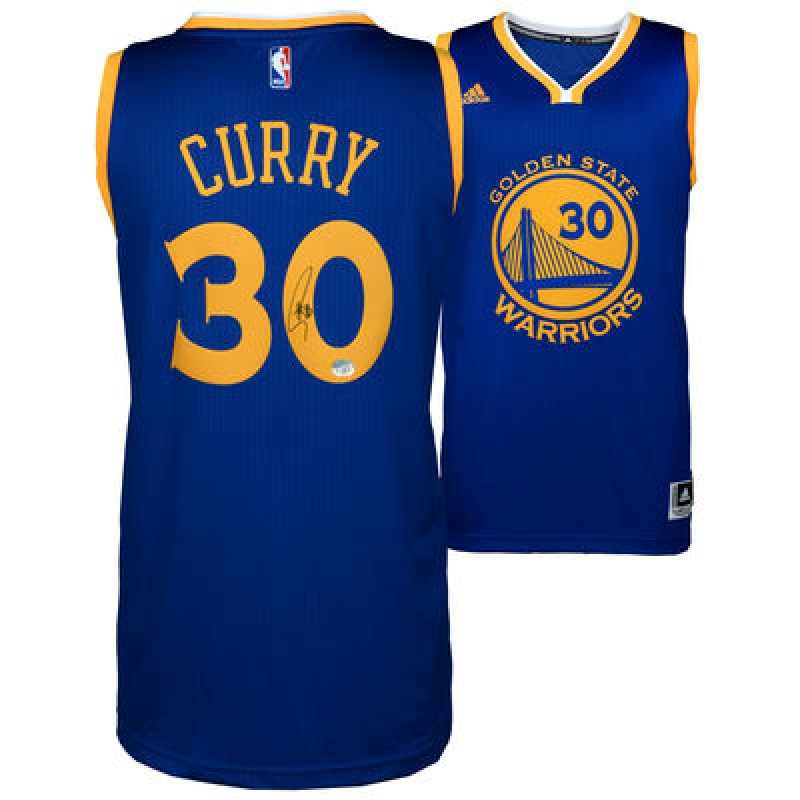 Stephen Curry Hand Signed Golden State Warriors Jersey
