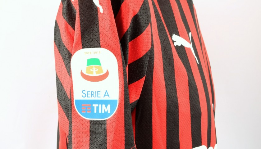 Borini's Worn and Signed Shirt, Milan-Frosinone 2019