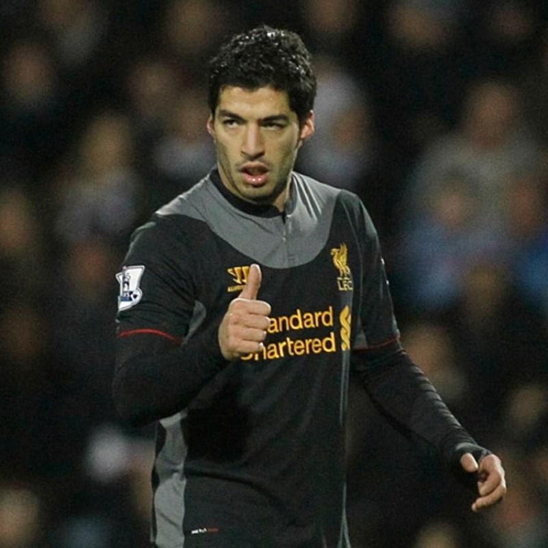 Suárez's Official Liverpool Signed Shirt, 2012/13