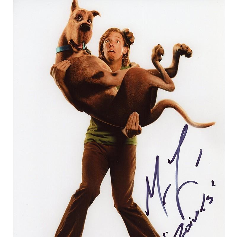 Matthew Lillard Signed Scooby Doo Photo