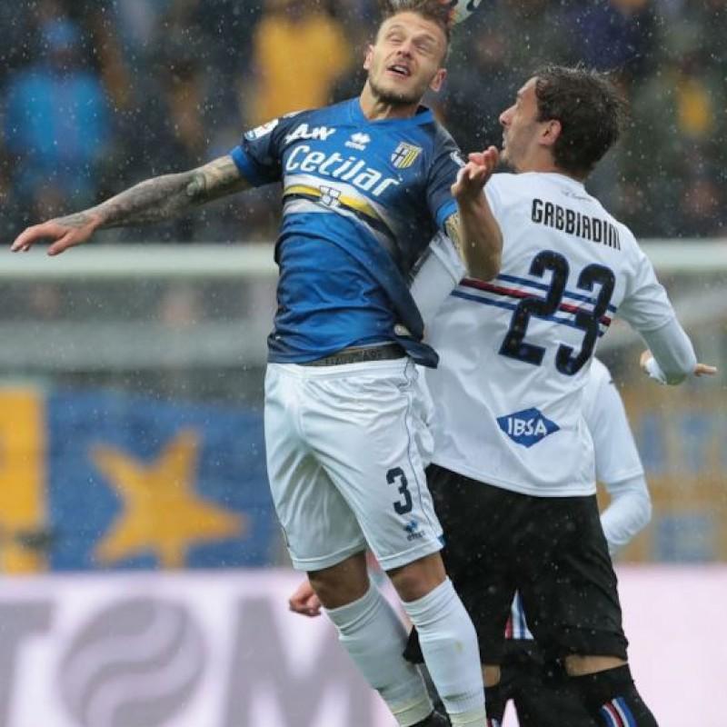Gabbiadini's Worn Shirt, Parma-Sampdoria - #Blucrociati