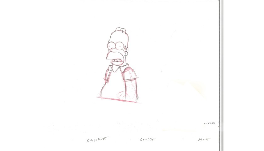 The Simpsons - Original Drawing of Homer Simpson