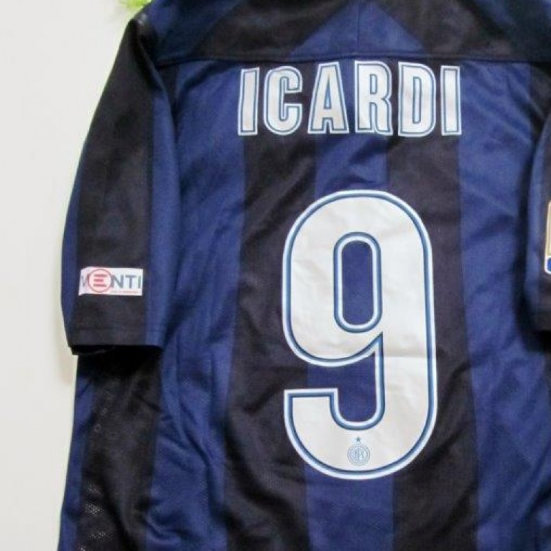 Icardi match issued shirt, Inter-Chievo Verona, Serie A 13/14