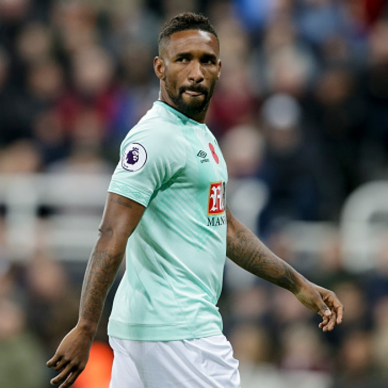 Defoe's AFC Bournemouth Worn and Signed Poppy Shirt