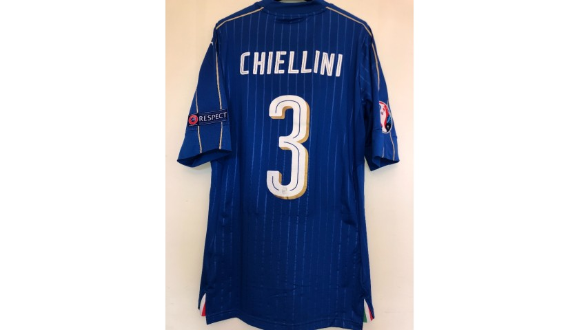 Chiellini's Match Shirt, Italy-Sweden - Euro 2016