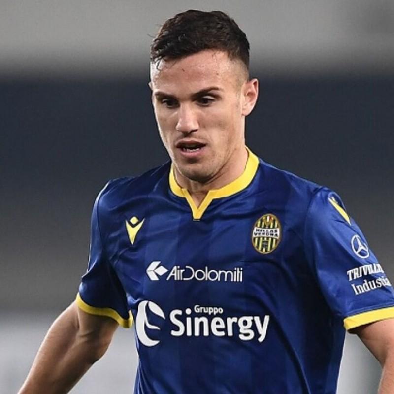 Verre's Hellas Verona Worn and Signed Shirt, 2019/20