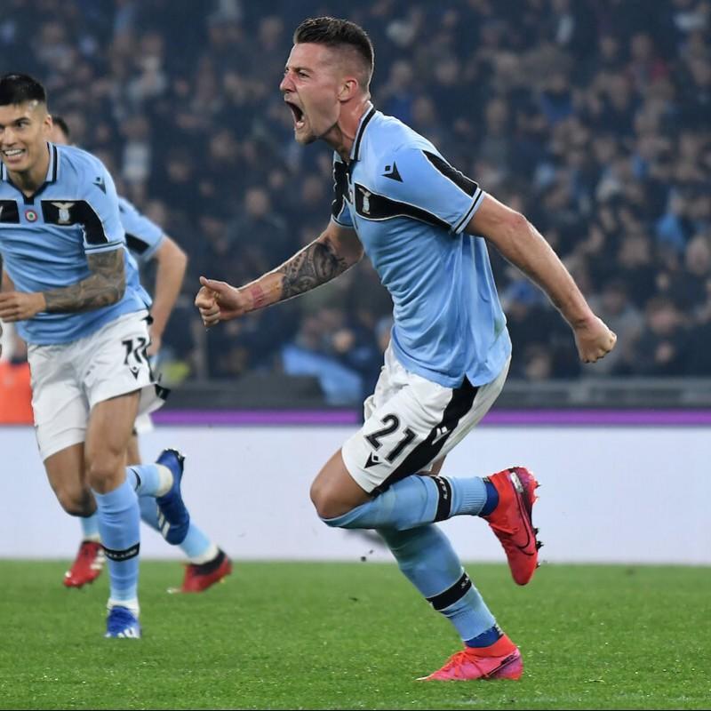 Sergej's Lazio Match Shirt, Serie A 2019/20 + Bib