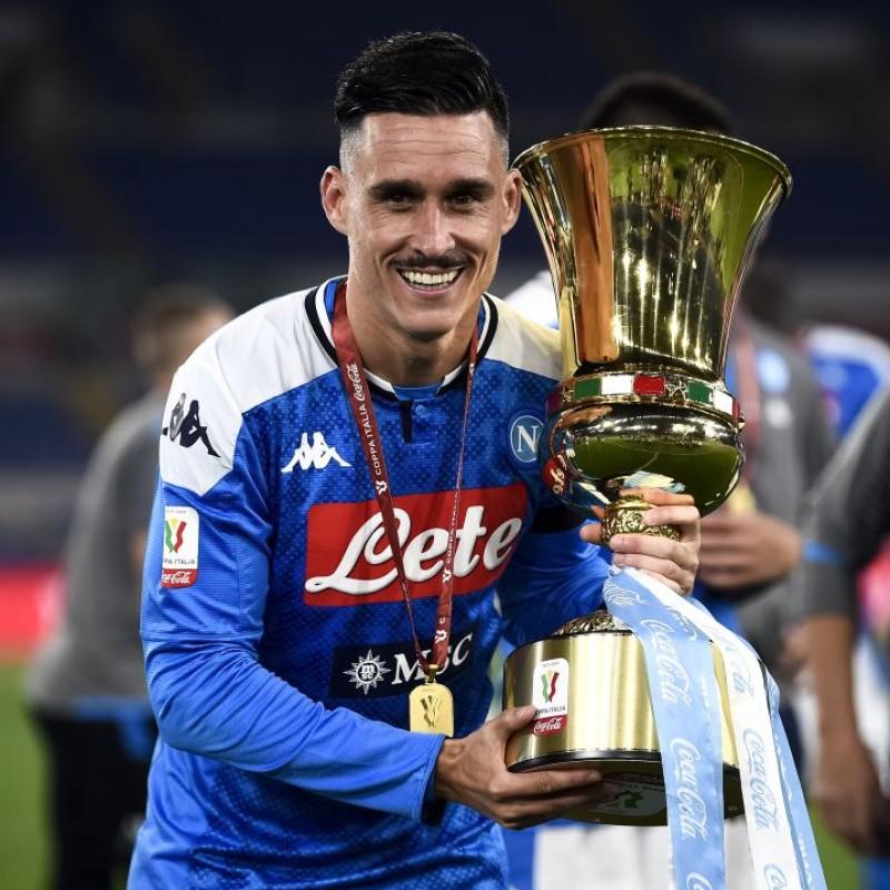 Callejon's Napoli Match-Issued Signed Shirt, Coppa Italia 2020