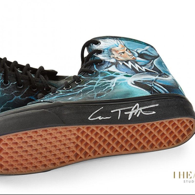 Evan Peters Signed Shoes