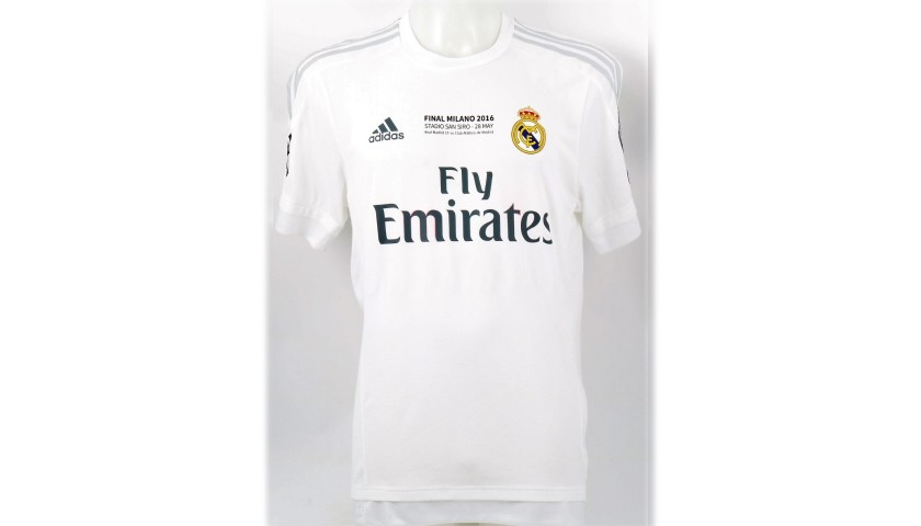 Kovacic's Real Madrid Match Shirt, Milan Final 2016