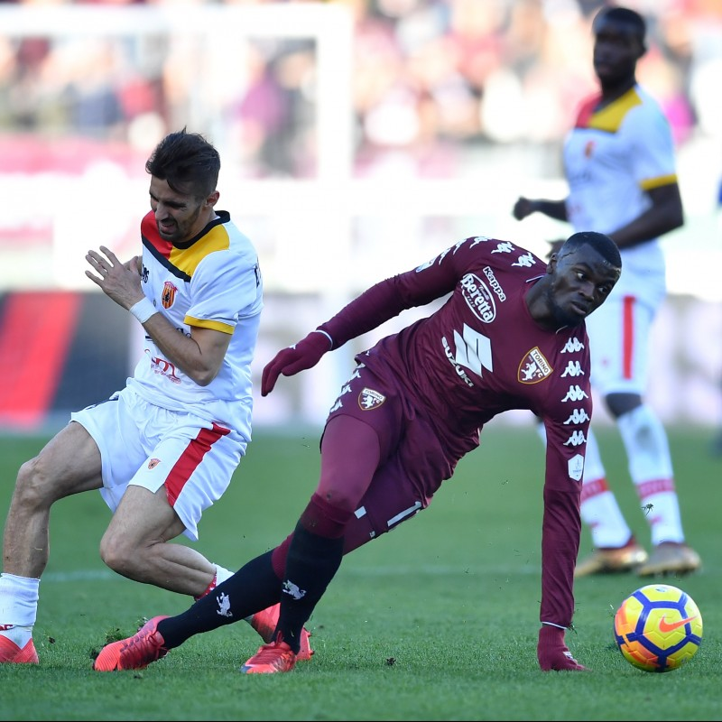 Niang's Match-Issued Torino-Benevento Shirt with Special Patch