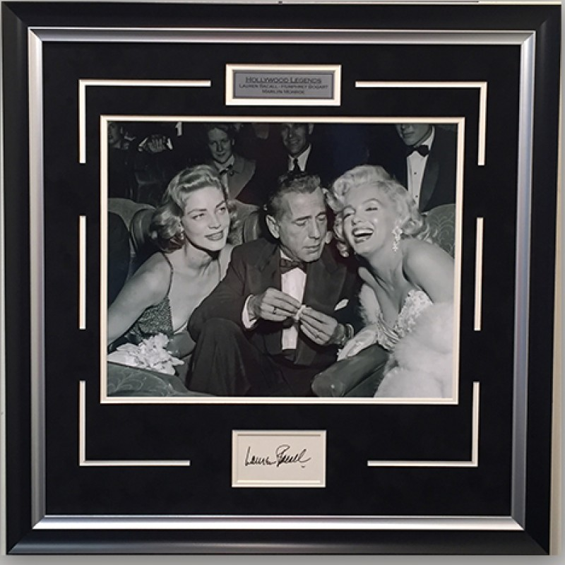 Hollywood Legends Photograph Signed by Lauren Bacall
