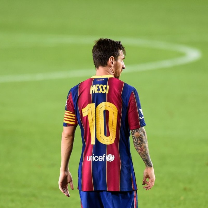 Messi's Official Barcelona Signed Shirt, 2020-21