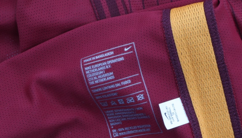 Totti Match Issued Shirt, Juventus-Roma 17/12/16 - Special Telethon Sponsor