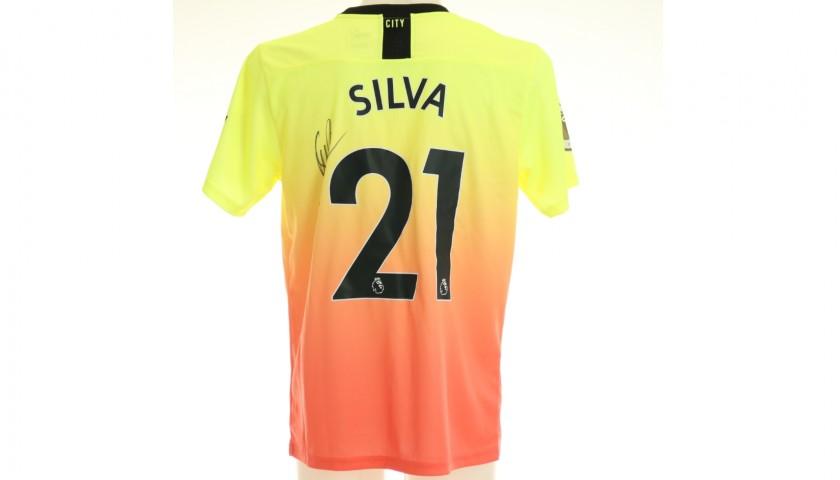 David Silva Signed Official 2019/20 Manchester City Third Shirt