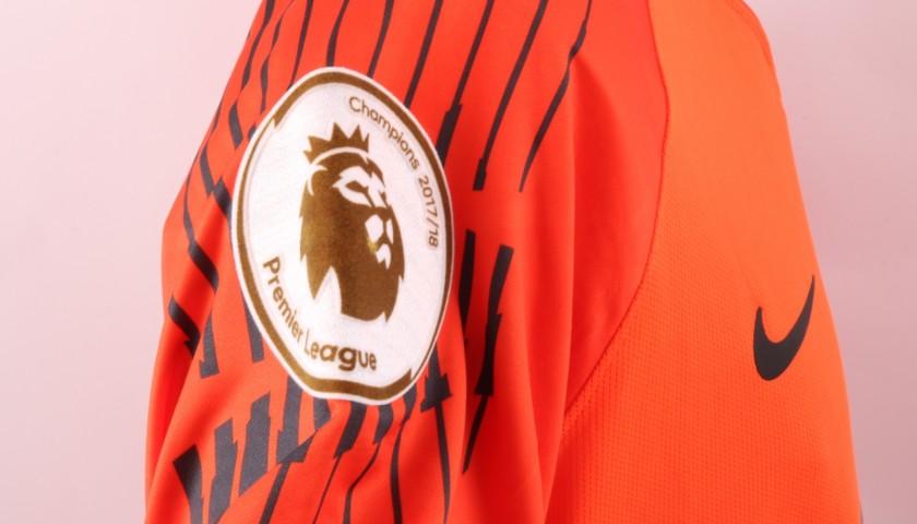 Joe Hart's Official Manchester City Match-Issued Shirt