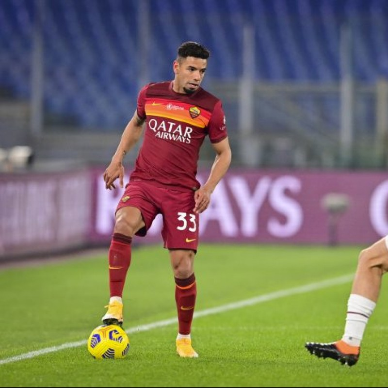 Bruno Peres' Match-Issued Shirt, Roma-Torino - WFP Special