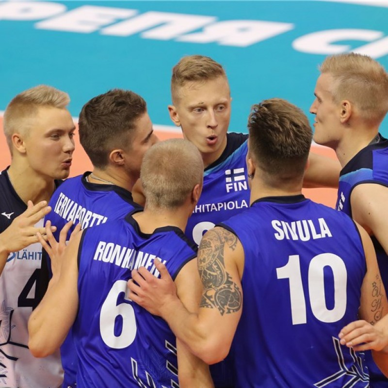 Official FIVB Volleyball Signed by the Finland National Volleyball Team