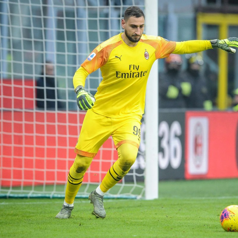 Donnarumma's Milan Worn Shorts, 2019/20