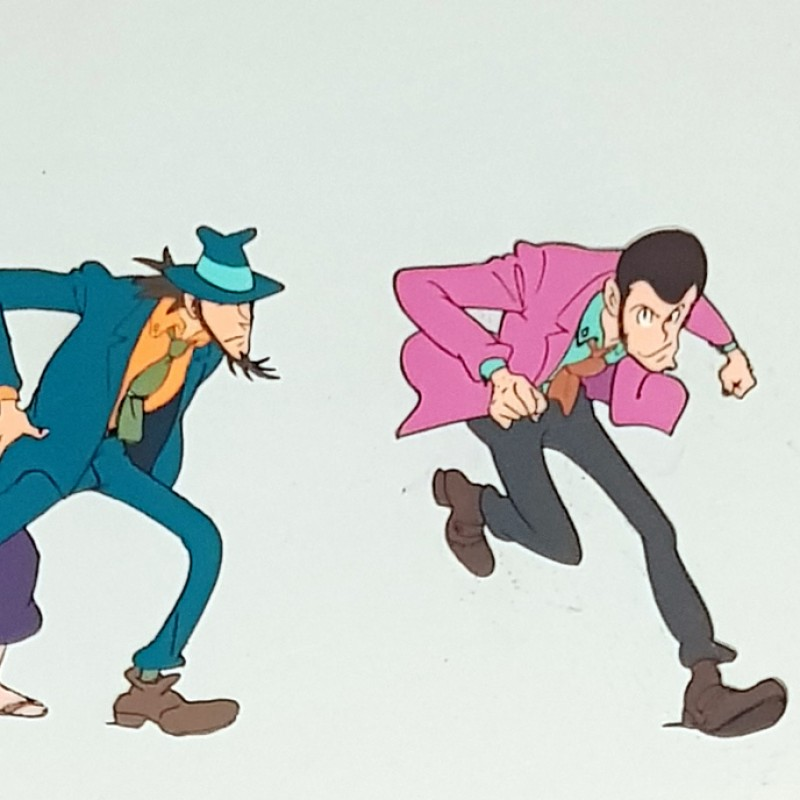 Lupin Original Animation Cels - Framed