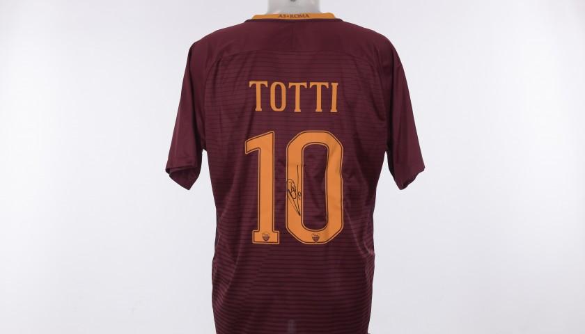 Francesco Totti's Roma Signed Shirt,  16/17