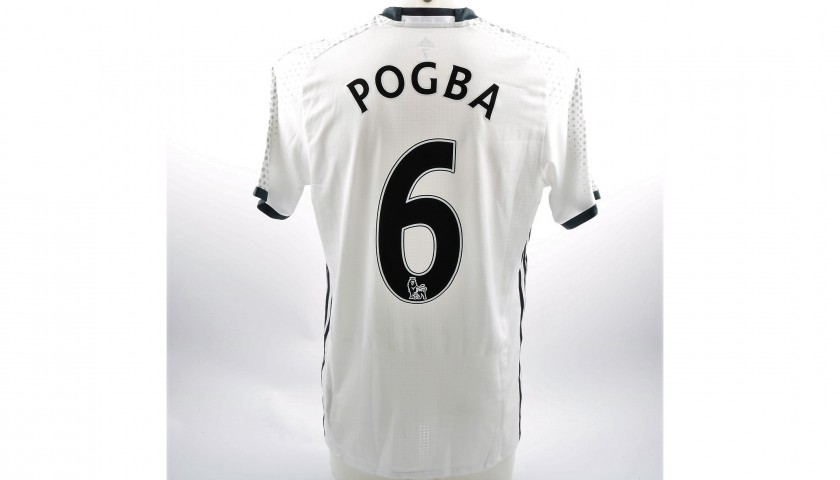 best service 9f6f4 29652 Pogba's Manchester United Match-Issue/Worn 2016/17 PL Shirt - CharityStars