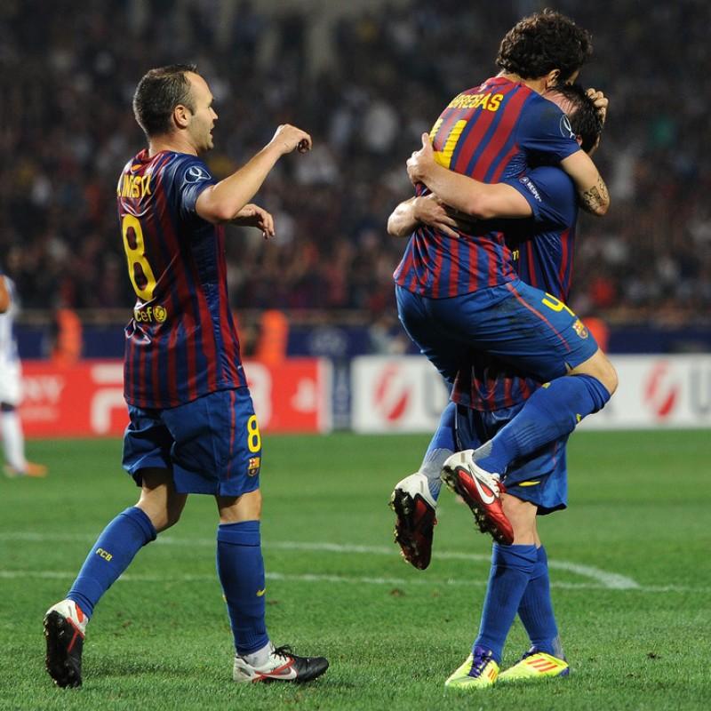 Iniesta's Barcelona, Match Shirt, Supercup 2011 + Match Program