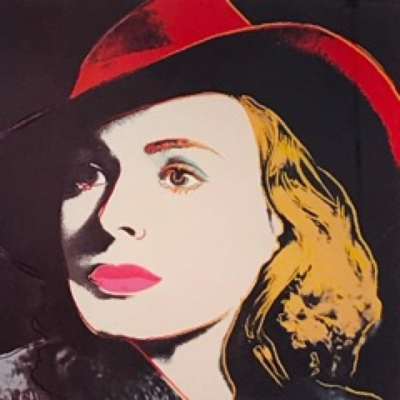 """Portraits of Ingrid Bergman"" by Andy Warhol"
