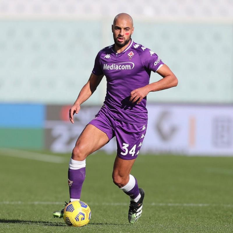 Amrabat's Fiorentina Worn and Signed Shirt, 2020/21