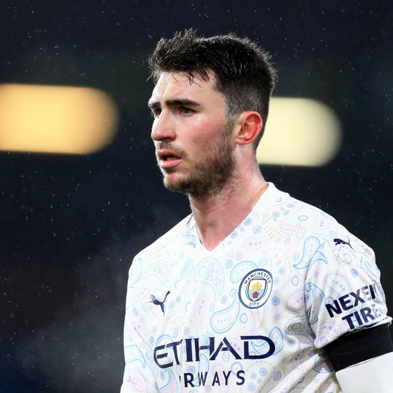 Laporte's Man City Match-Issued Signed Shirt